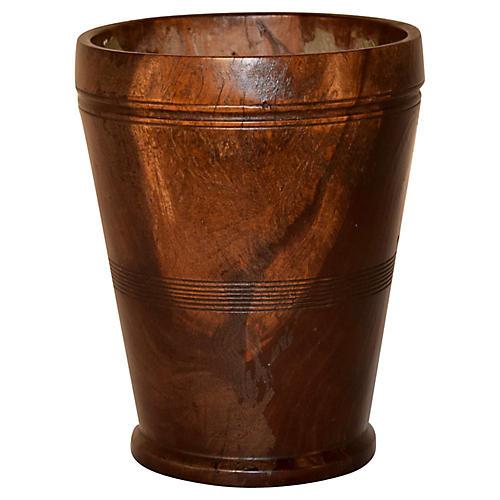 19th-C. Treen Vase