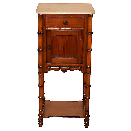 19th-C. French Bedside Table