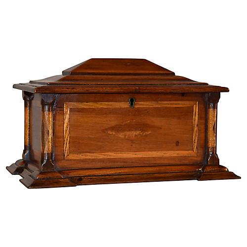 19th-C. English Inlaid Box