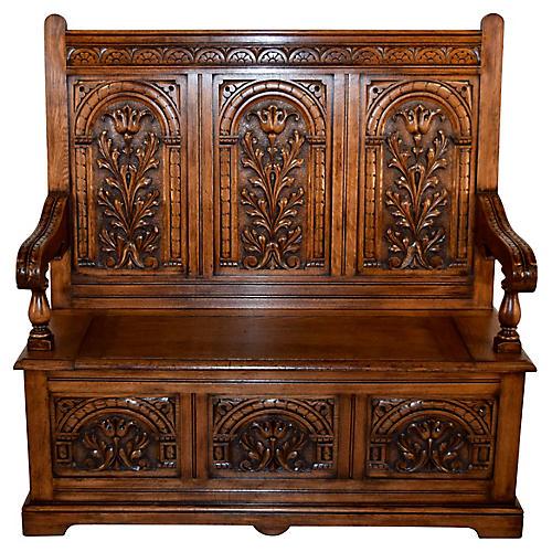 19th-C. English Oak Bench. VINTAGEBlack Sheep Antiques - Furniture One Kings Lane