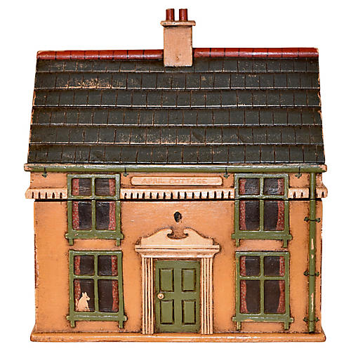 19th-C. Cottage Tea Caddy