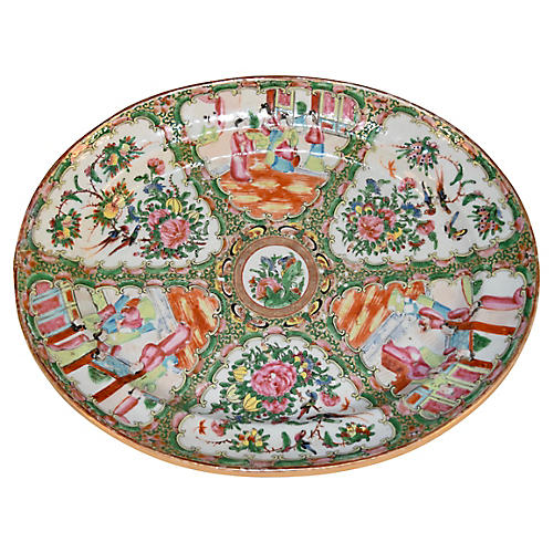 19th-C. Rose Medallion Platter