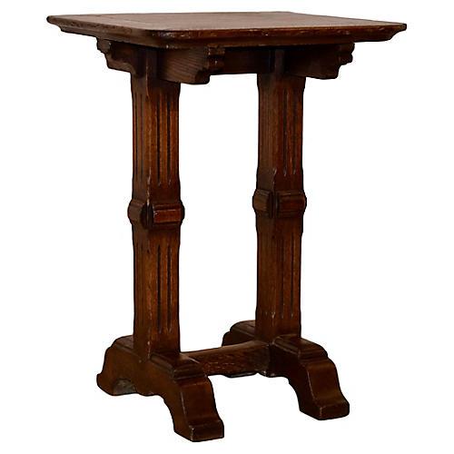19th-C. English Oak Side Table
