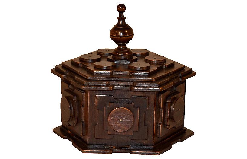 19th Century English Tramp Art Box