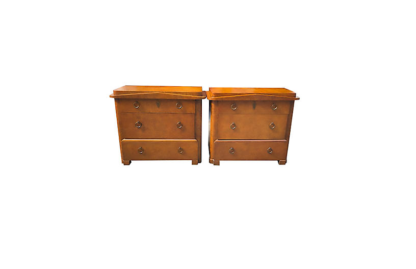 Baker Furniture Chests of Drawers, Pair
