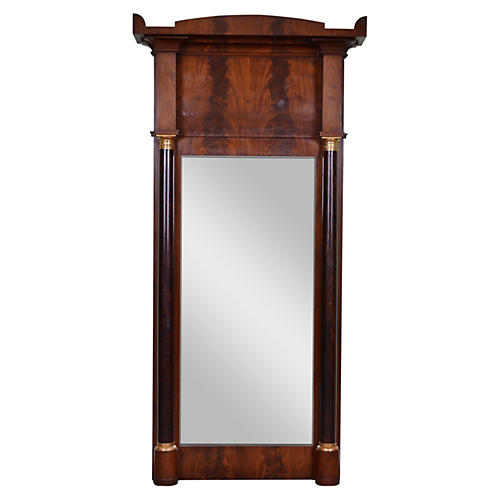 19th-C. French Empire Trumeau Mirror