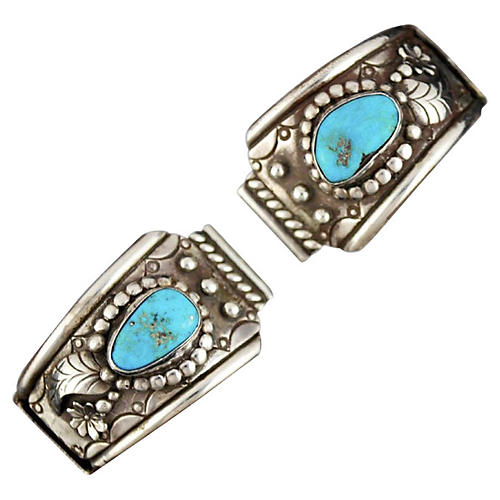 Sterling & Turquoise Watch Band