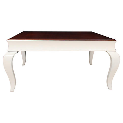 Neoclassical-Style Cherry Coffee Table