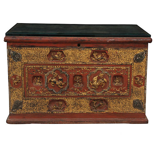 19th Century Antique Nepalese Chest