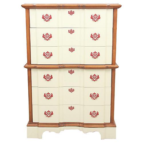 Chippendale Style Cream Dresser