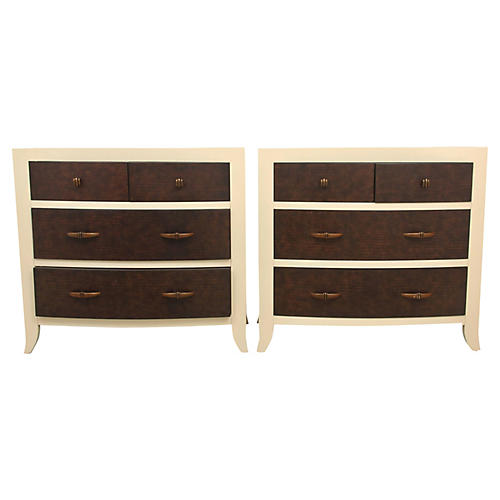 Bernhardt Faux Gator Chest of Drawers