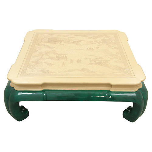 Drexel Ming Style Jade Coffee Table