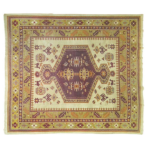Antique Amritsar Rug, 9'6'' x 8'10''