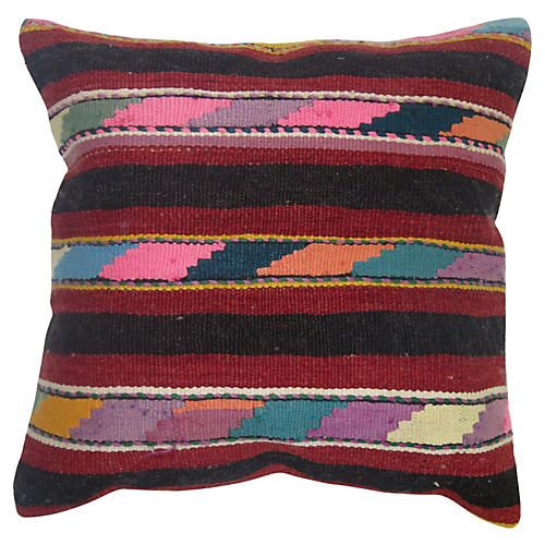 Multi-Striped Kilim Pillow