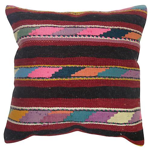 Multi-Striped Kilim Pillow