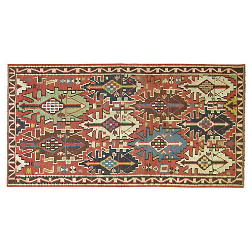 Antique Shirvan Kilim, 9'1'' x 4'10''