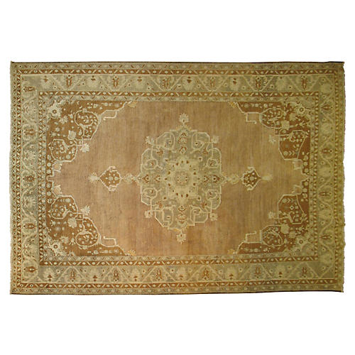 Turkish Oushak Rug, 8'1'' x 11'4''
