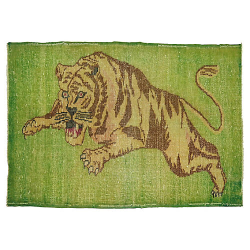 Overdyed Tiger Rug, 2'10'' x 4'4''