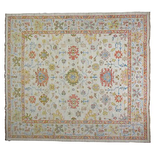 """Oushak Carpet, 11'3"""" x 13'2"""""""