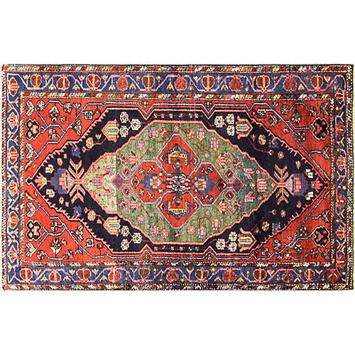 """Persian Bakhtiari Rug, 4'2"""" x 6'7"""""""