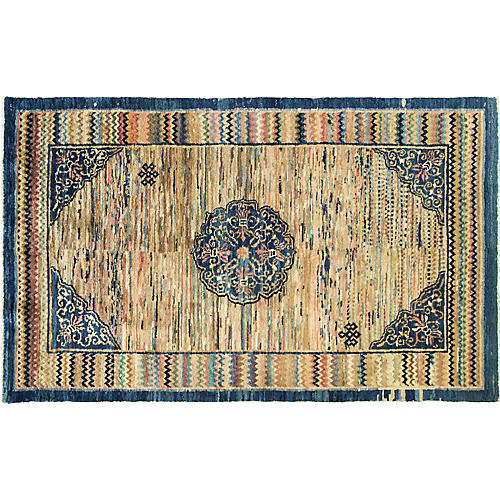 "3'8"" x 6'1"" Antique Chinese Carpet"