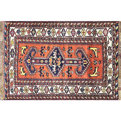 "3'3"" x 5' Wonderful Persian Qashqai Rug"