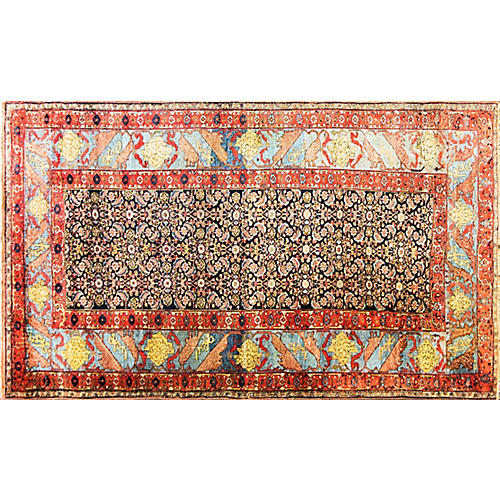 "Antique Halwai Bijar Carpet,6'3"" x 10'10"