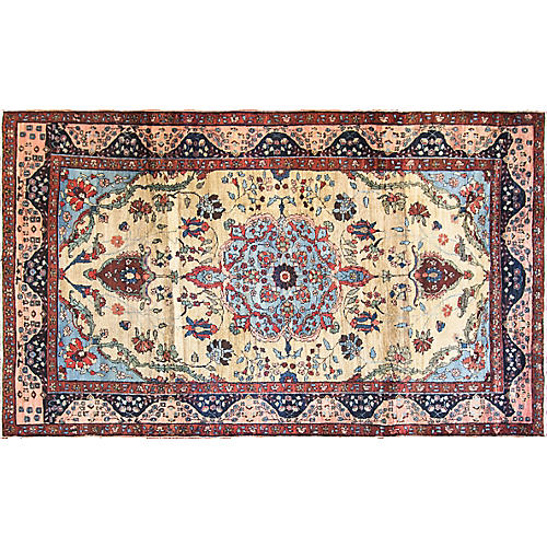 "Tabriz Carpet, 6'6"" x 10'7"""