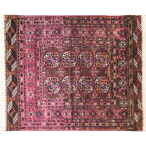 "Antique Turkoman Rug, 2'10"" x 3'8"""