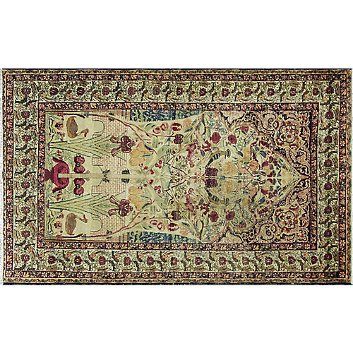 """Antique Kermanshah Rug, 4'6"""" x 7'6"""""""