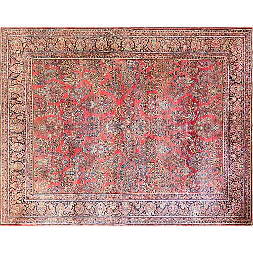 """Persian Sarouk Rug, 10'8"""" x 13'8"""""""