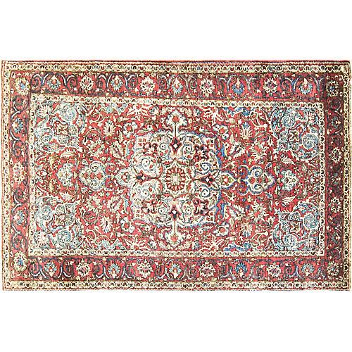 """Persian Bakhtiari Rug, 4'6"""" x 6'10"""""""