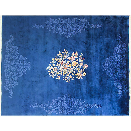 "Art Deco-Style Carpet, 9' x 11'8"""