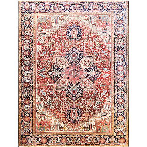 """Antique Heriz Carpet, 9'6"""" x 12'8"""""""