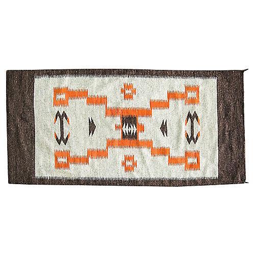 "Navajo-Style Storm Rug, 4'10"" x 2'4"""