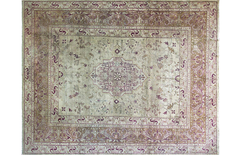 Antique Agra Carpet, 10' x 13'