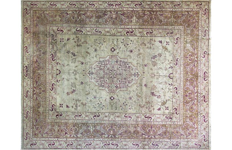 Antique Agra Carpet, 10' x 13'