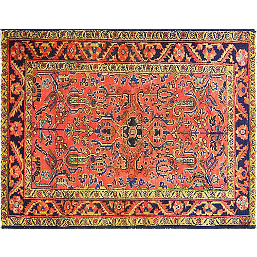 """3'6"""" x 4'8"""" Antique Persian Lilihan Rug"""