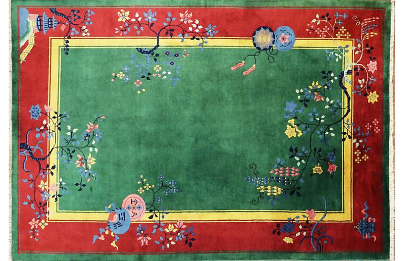 Antique Art Deco Carpet, 5'9