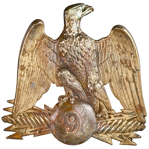 French Gilded Brass Eagle Hat Pin