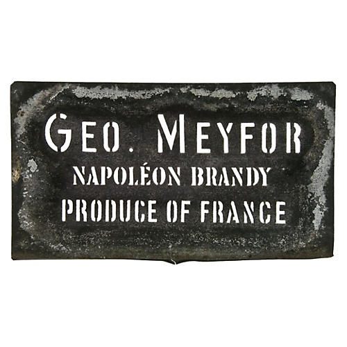 French Geo. Meyfor Brandy Stencil