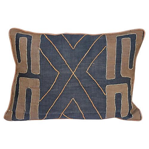 Custom African Kuba Cloth Pillow