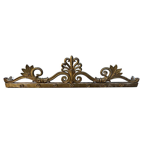19th-C. Giltwood Carving