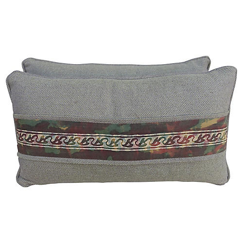 Pair of Vintage Fortuny Pillows