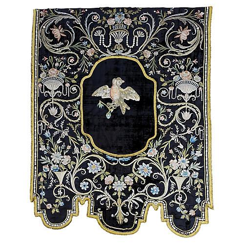 Italian 19th Century Silk Wall Hanging