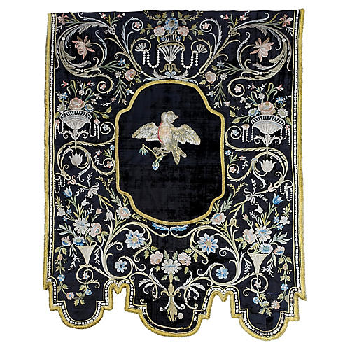 Italian 19th Century Silk Wall Hanging
