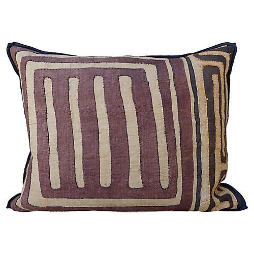 Rectangular African Kuba Pillows, Pair