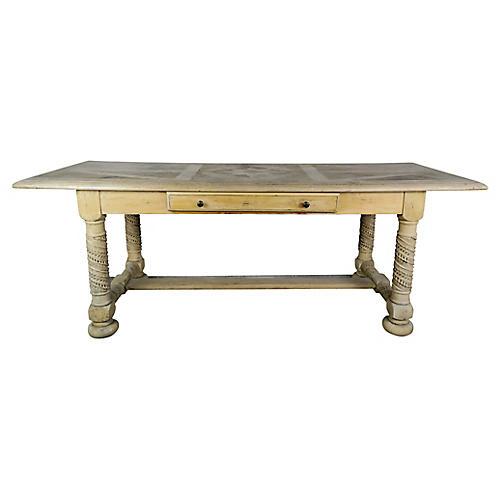 Italian Inlaid Writing Table w/ Star