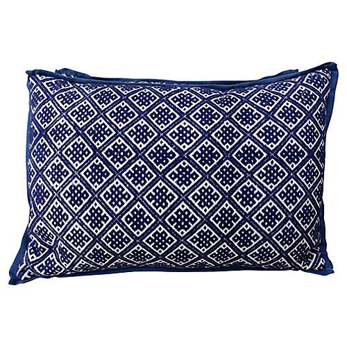 Woven Cotton Hmong Pillows, Pair