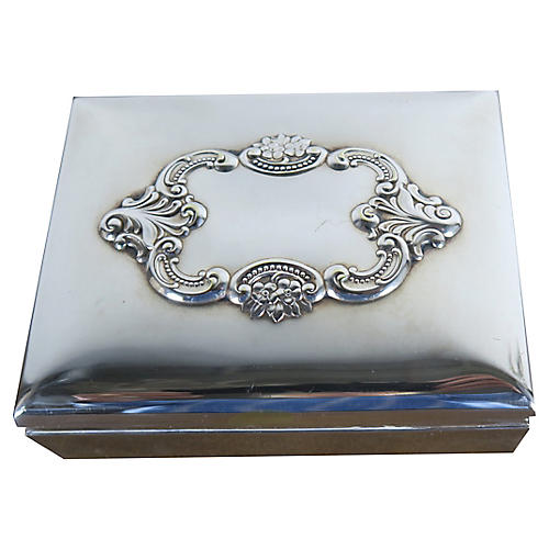 Baroque by Wallace Silver Repousse Box